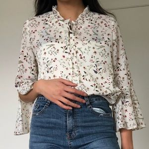 Floral Blouse from Korea